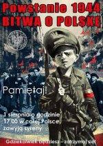 Uroczystości w 75. rocznicę wybuchu powstania warszawskiego – Kraków, 1 sierpnia 2019