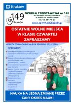 Piszą o nas !!! SP149 najpopularniejszą szkołą w Krakowie