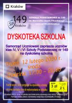 Dyskoteka szkolna dla klas IV - VI